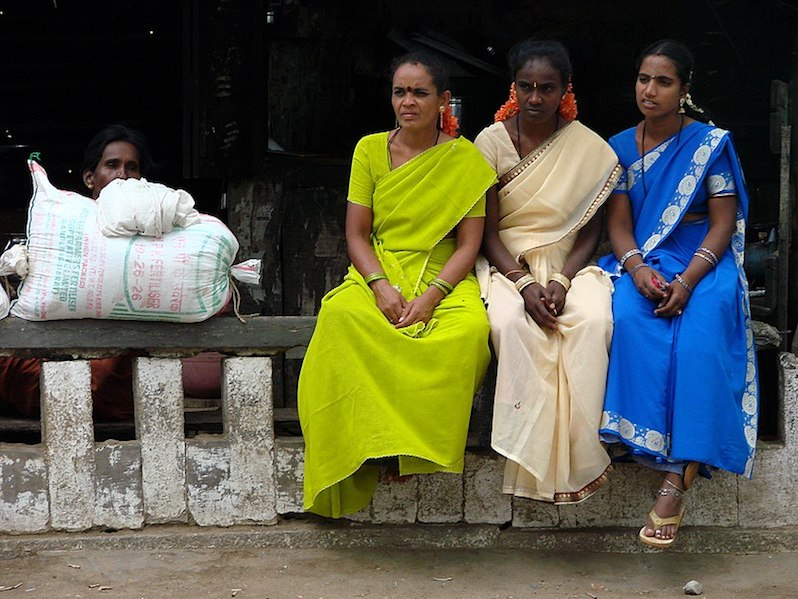 Women gather in a village near Mysore, India. (Adam Jones ) (CC-BY-SA)